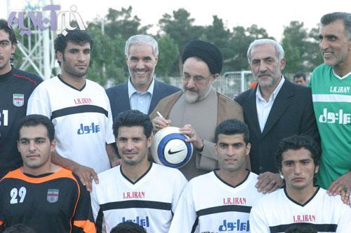 سید محمد خاتمی در دیدار تیم ملی فوتبال