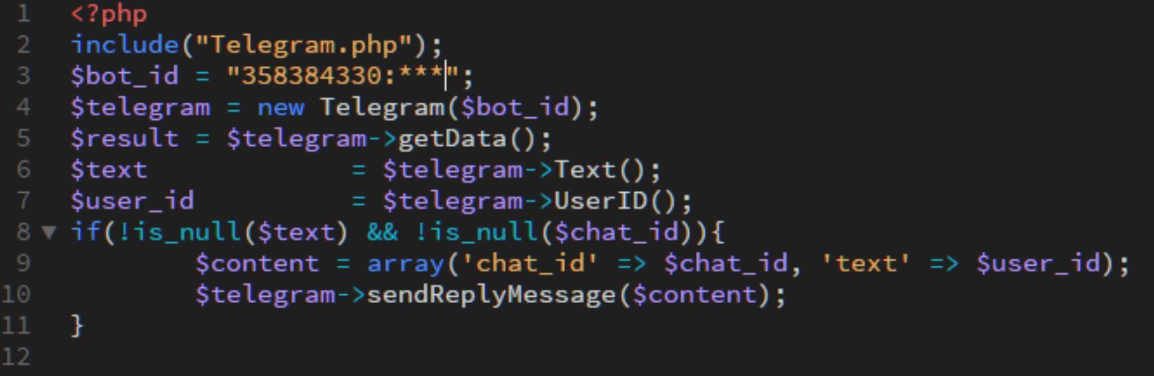 ساخت ربات تلگرام با 10 خط کُد PHP!