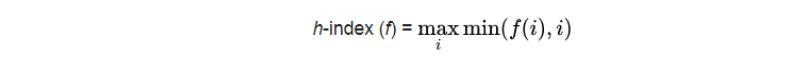 فرمول محاسبه h-index
