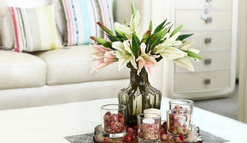 دکور منزل با گل مصنوعی