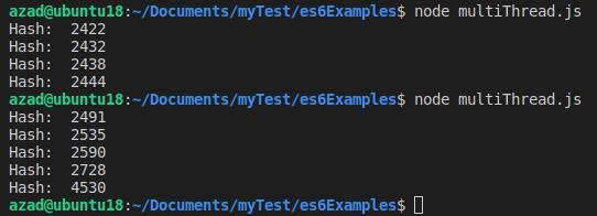بار اول 4 بار تابع صدا شده است. بار دوم تابع 5 بار صدا شده است. زمان اجرای تابع پنجم به وضوح متفاوت است.