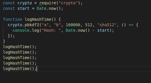 کد اصلی به همراه نحوه فراخوانی آن (5 مرتبه)