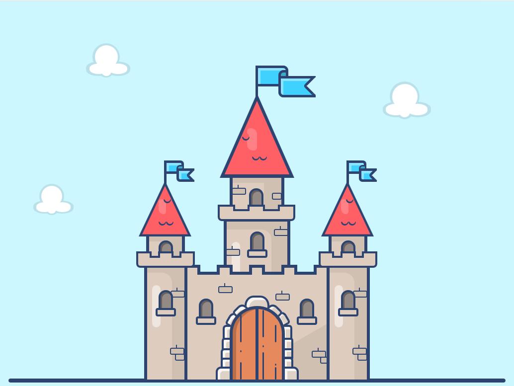 ساخت قلعه تنها با سی اس اس