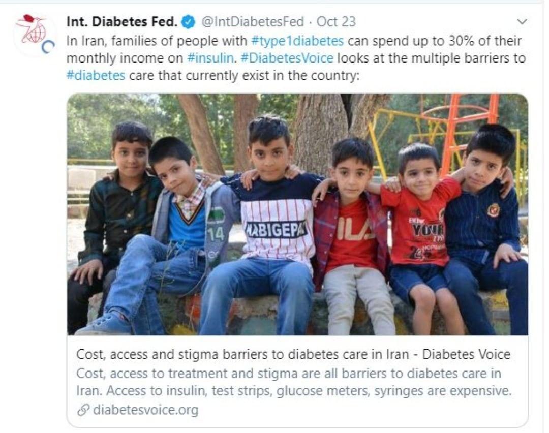 تحریم زندگی دیابتیهای ایران را تهدید میکند