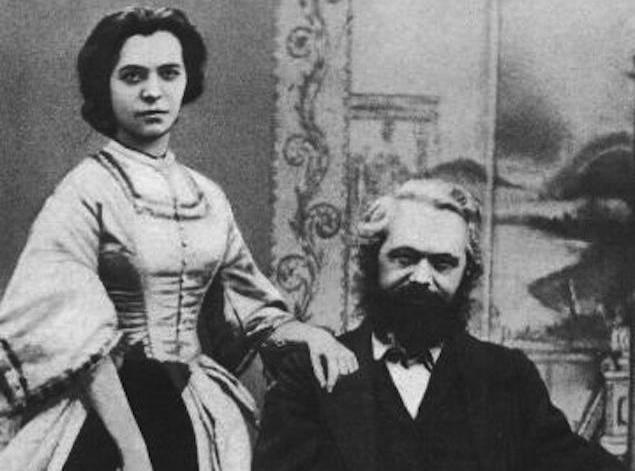 کارل مارکس به همراه همسرش جنی فون وستفالن