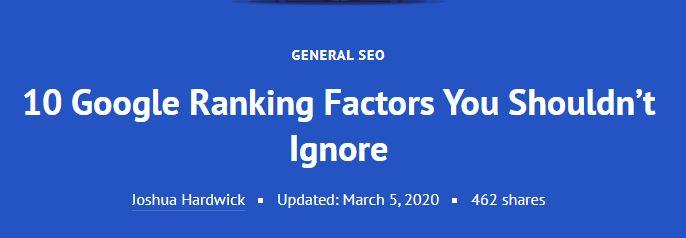 ۱۰ عامل رتبهبندی گوگل که نباید آن را نادیده بگیرید! (۱)