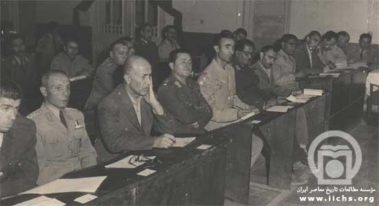 دادگاه نظامی افسران حزب توده پس از کودتای 28 مرداد سال 1332