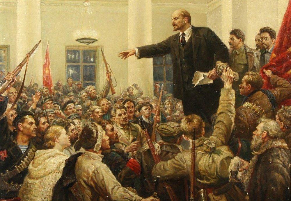 سخنرانی لنین در مقر بولشویکها، اثری از ولادیمیر سروف