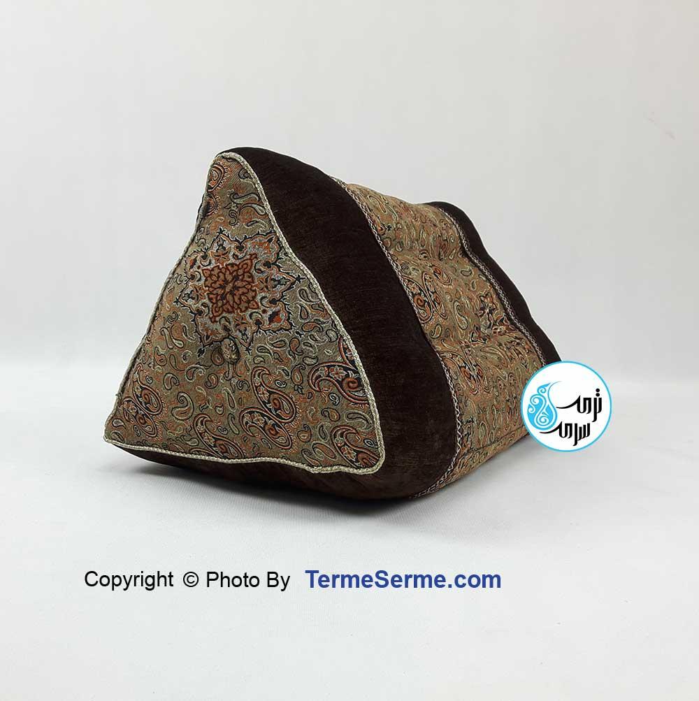 پشتی مثلثی لوله ای دور مخمل در 4 رنگ