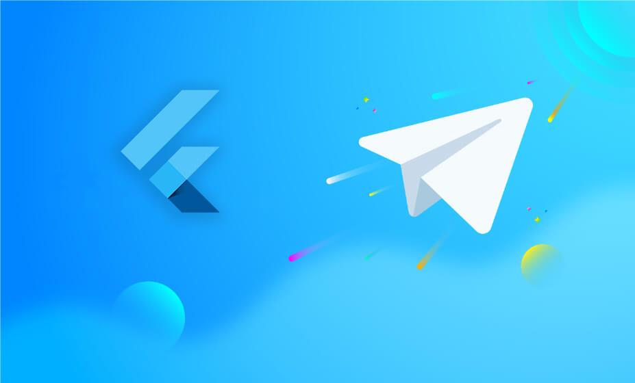 طراحی صفحه اصلی تلگرام با Flutter