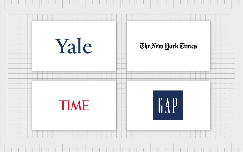 نمونههای معروف در لوگوهای تایپوگرافی