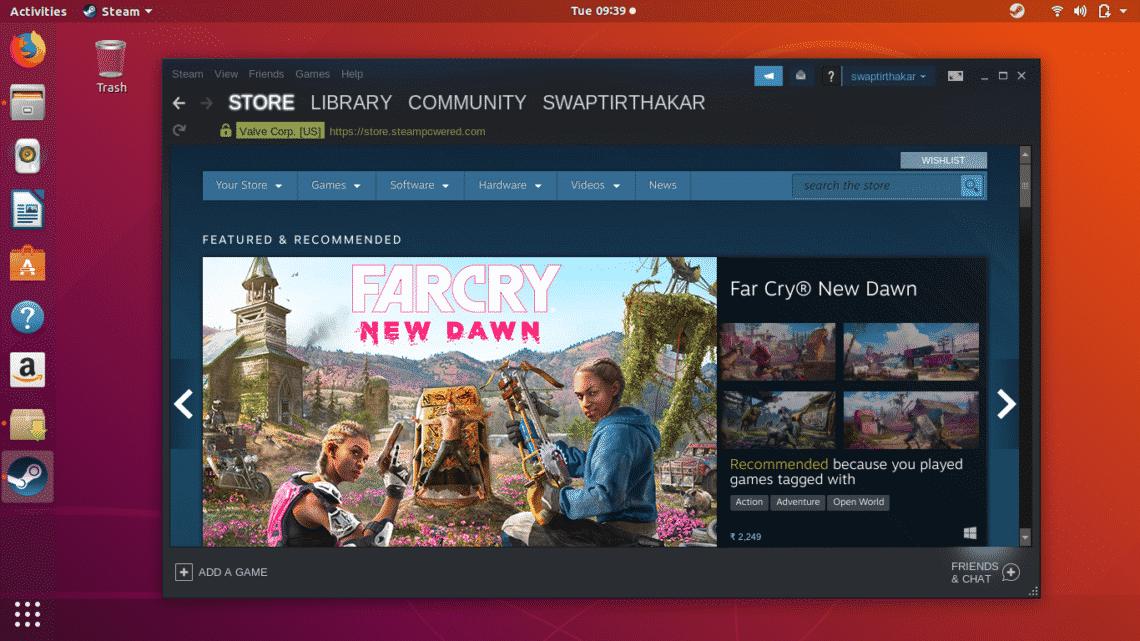 نصب استیم Steam در لینوکس !!!