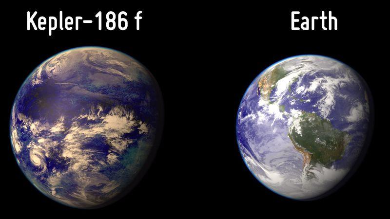 زمین در مقایسه با پسرعمویش