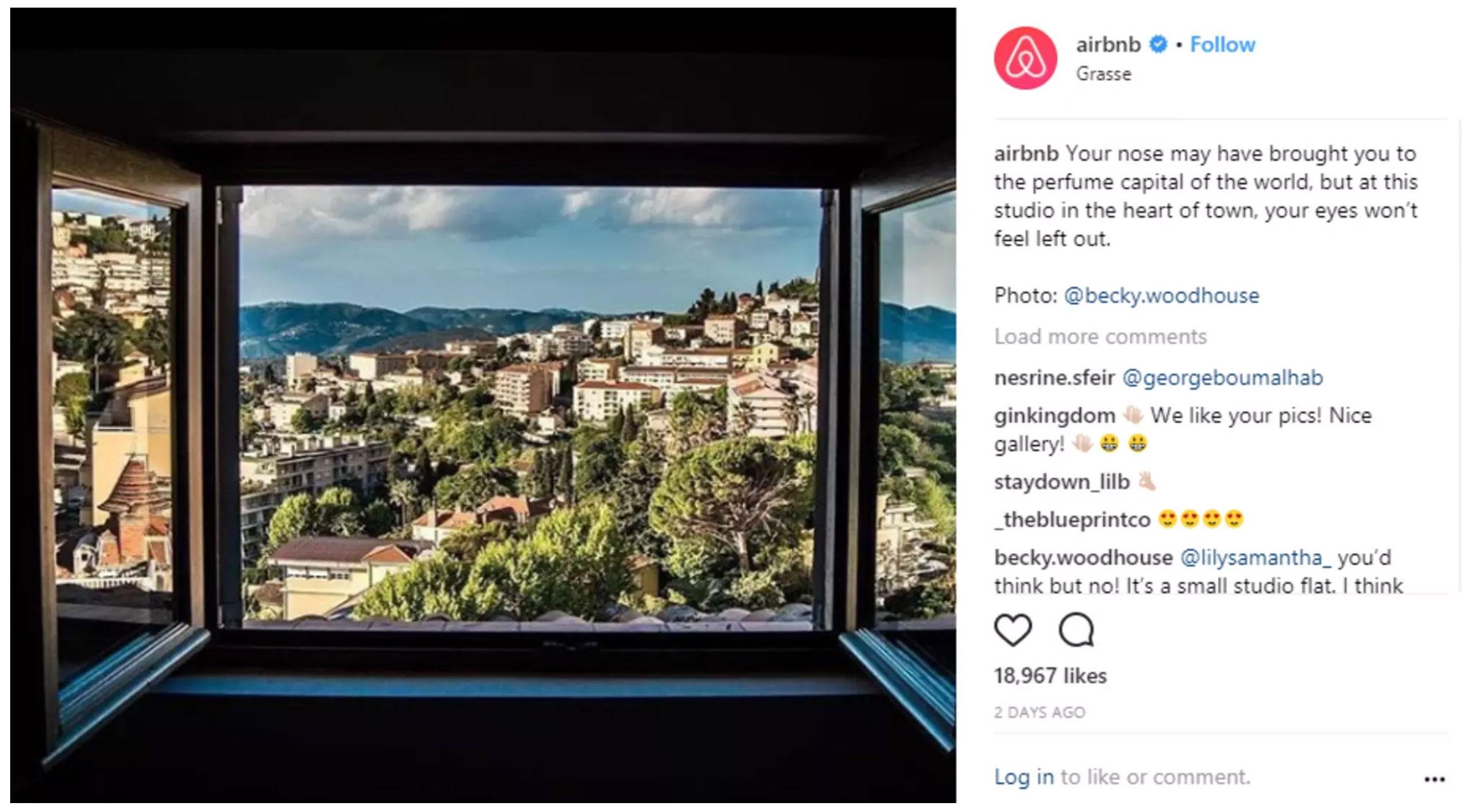 انتشار محتوای تولید شده توسط کاربر شما رو به یک تعامل مفید سوق میده. Airbnb عکسی که کاربرش گرفته رو در صفحه رسمی خودش نمایش میده.